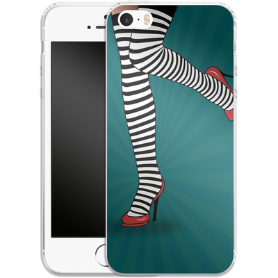 Apple iPhone SE Silikon Handyhuelle - Stripy Tights von Mark Ashkenazi