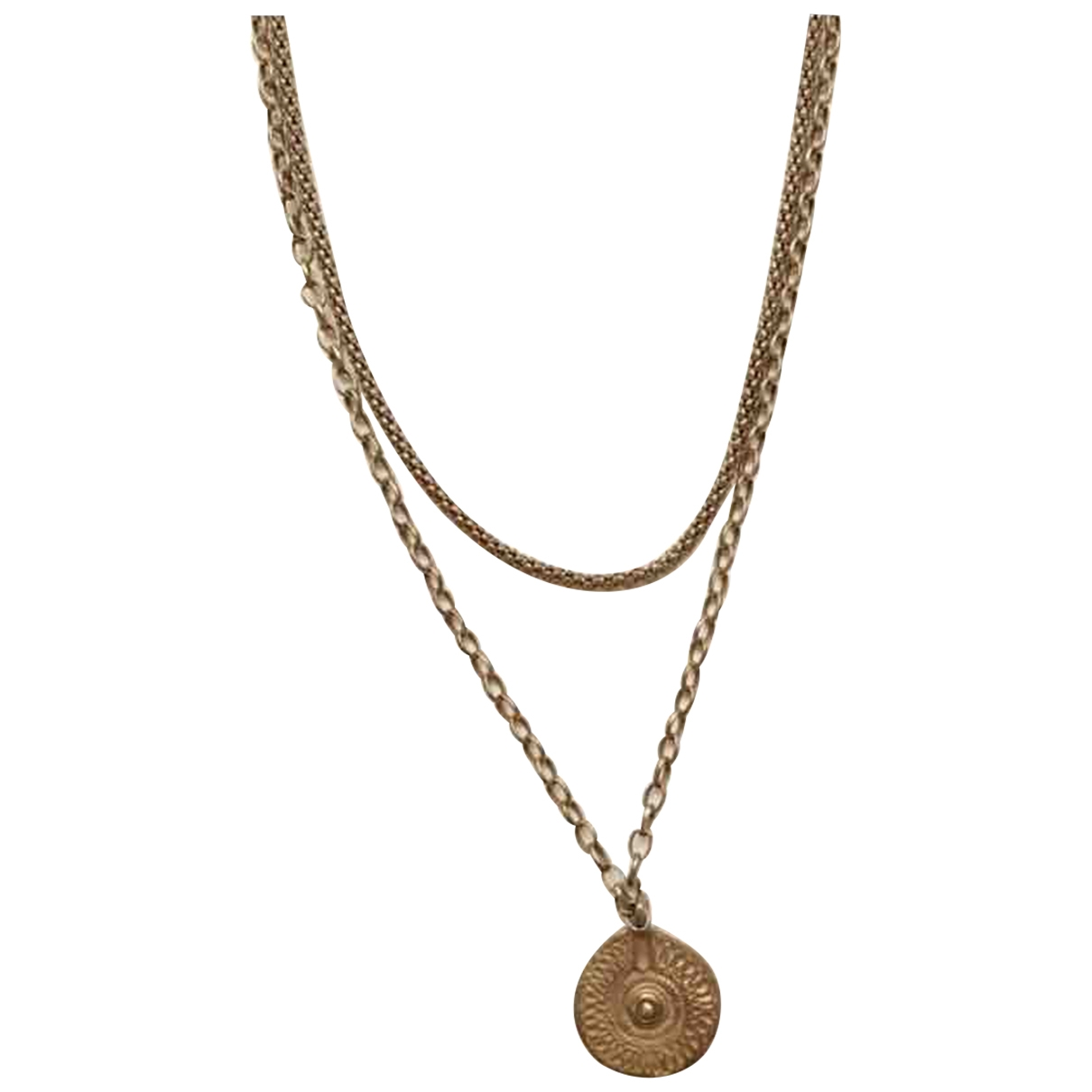 Non Signé / Unsigned Médailles Gold Gold plated necklace for Women \N