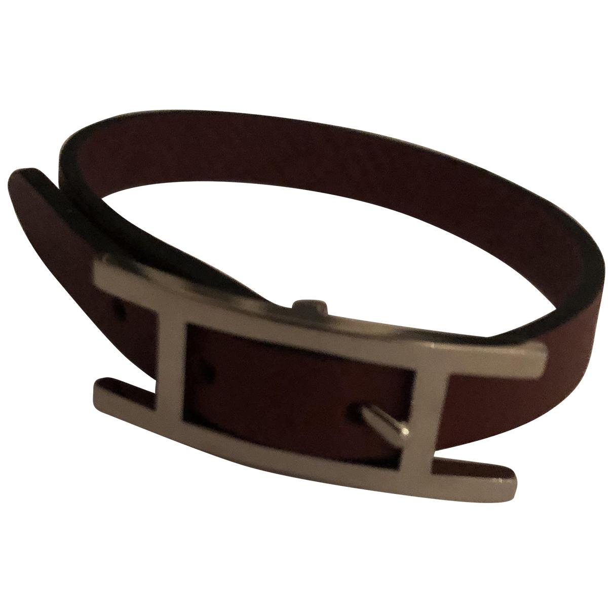 Hermès Hapi Burgundy Leather bracelet for Women N