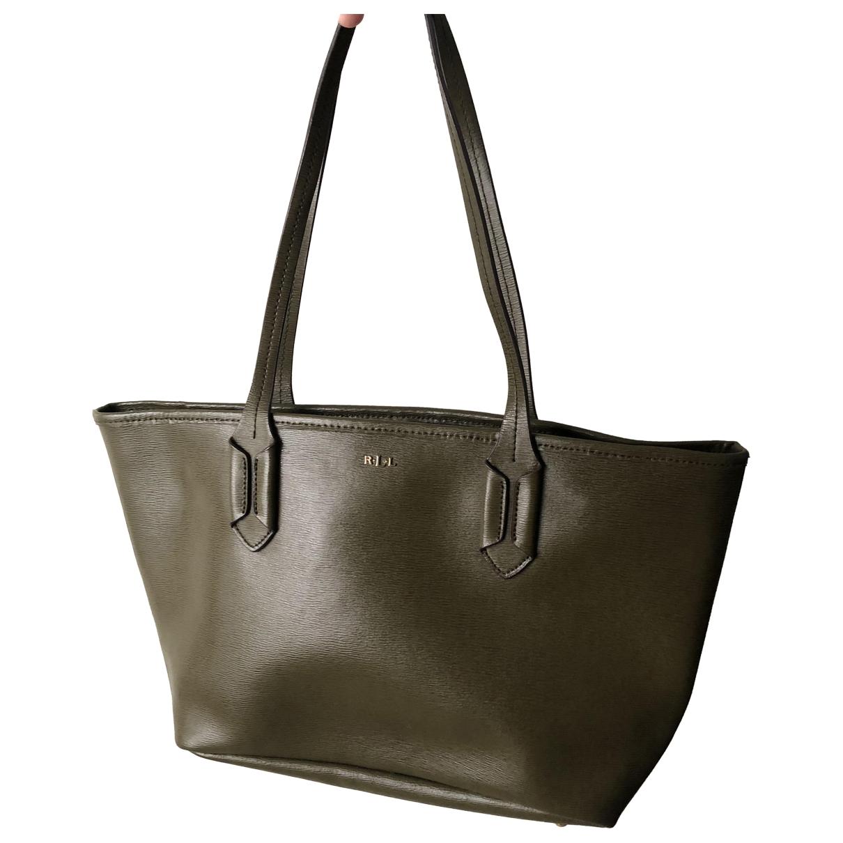 Lauren Ralph Lauren \N Handtasche in  Gruen Leder
