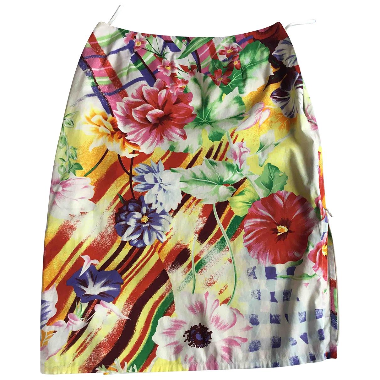 - Jupe   pour femme en coton - elasthane - multicolore