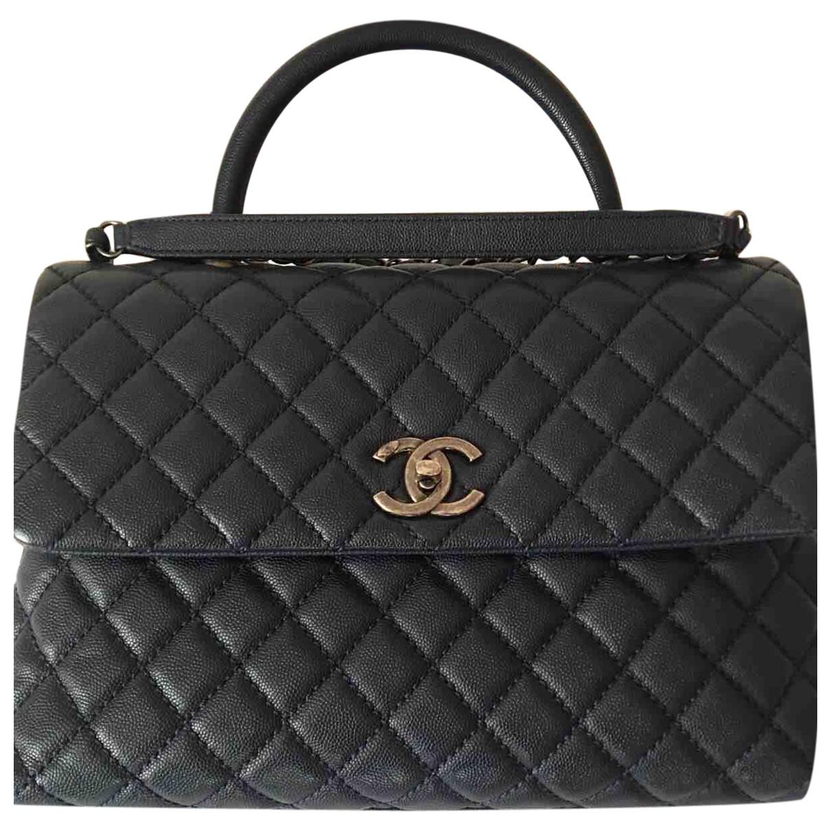 Chanel Coco Handle Navy Leather handbag for Women \N