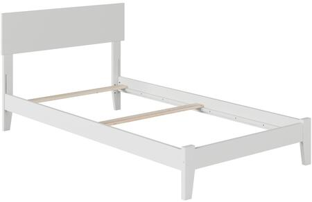 Orlando Collection AR8111032 Twin Extra Long Size Platform Bed with Open Foot Board  Adjustable Headboard  Hardwood Slat Kit and Eco-Friendly Solid