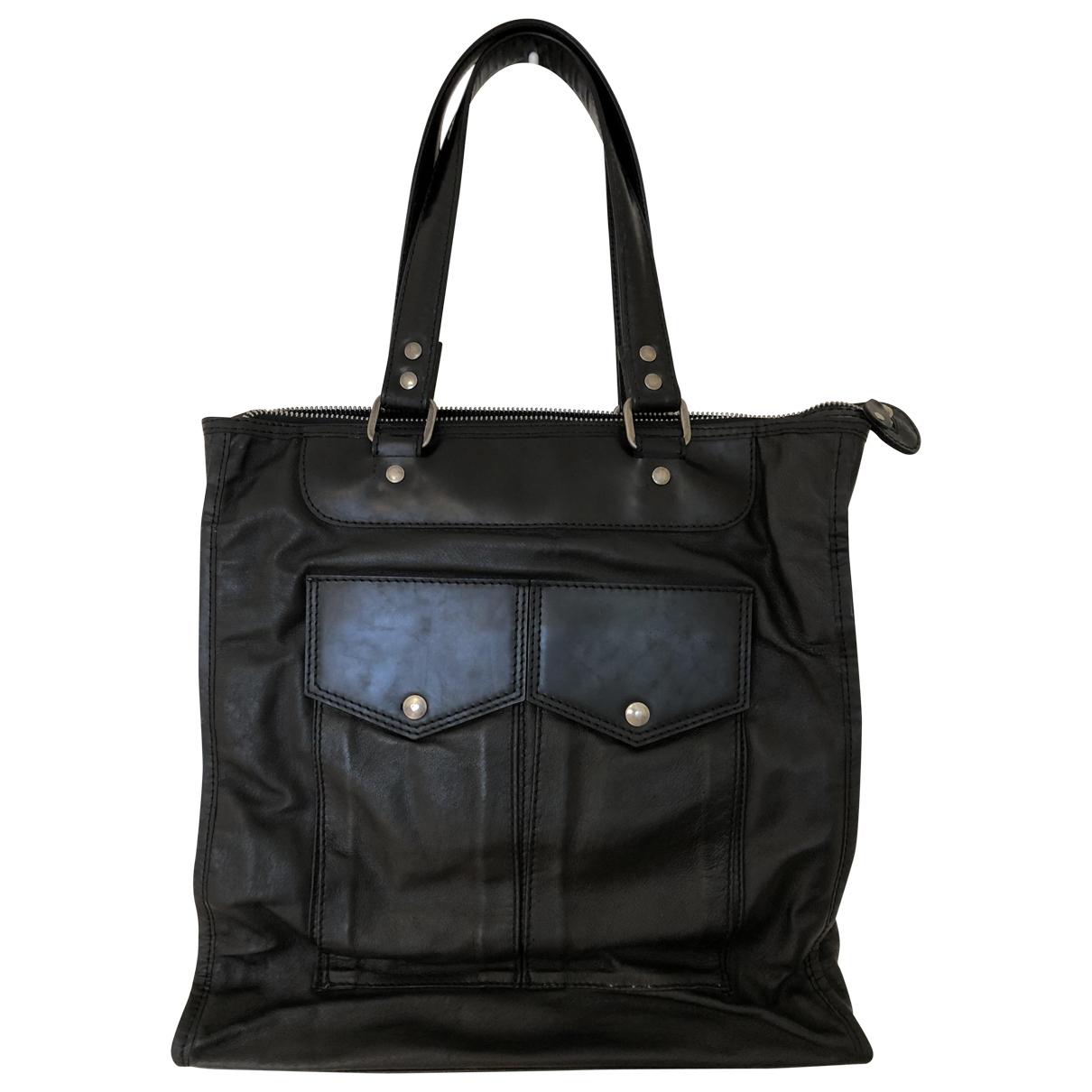 Maison Martin Margiela \N Black Leather bag for Men \N