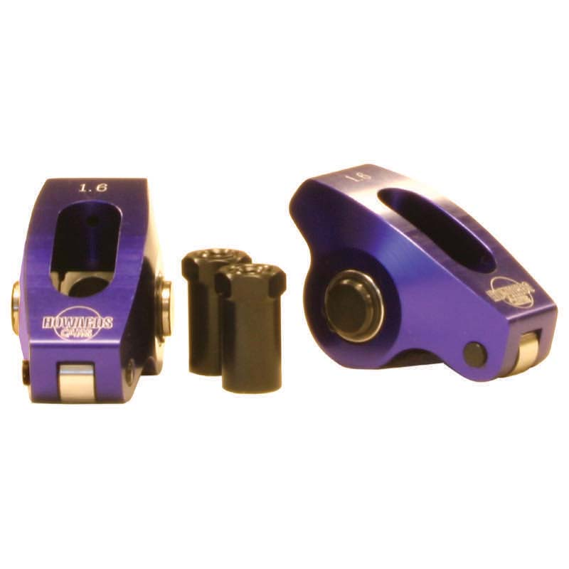 Roller Tip Rocker Arms; Chevy 265-400 1.80 / 1.70 7/16 Billet Aluminum Howards Cams 90086 90086