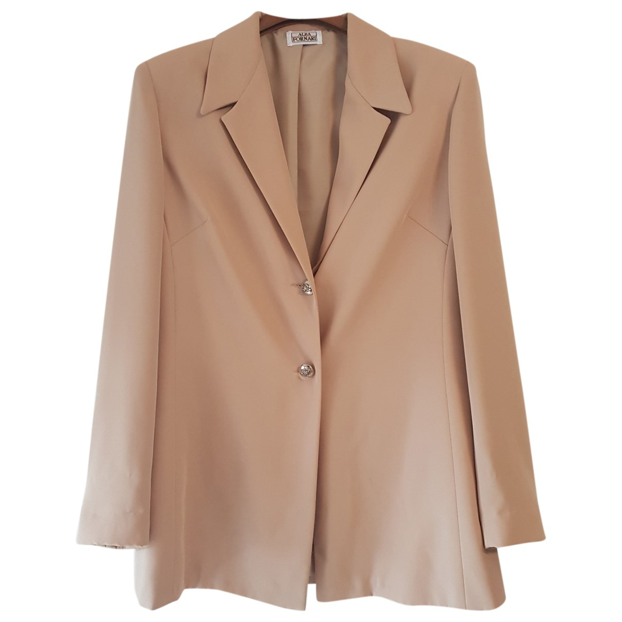 Non Signe / Unsigned \N Jacke in  Beige Polyester