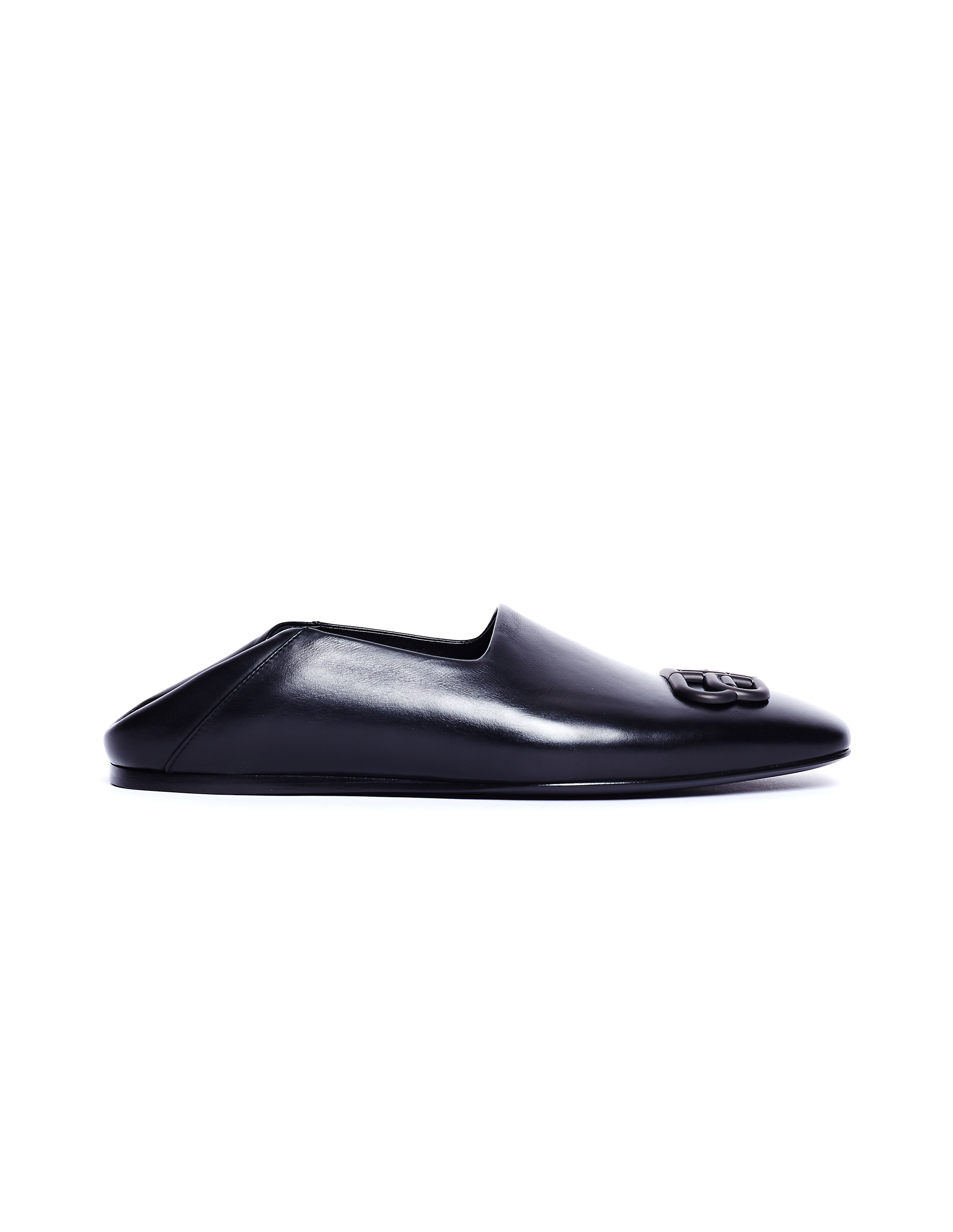Balenciaga Black Leather Cosy BB Loafers