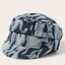 Sombrero baker boy de hombres de tie dye