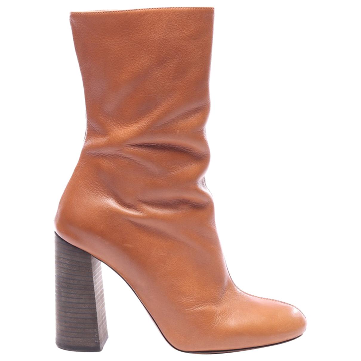 Chloe - Boots   pour femme en cuir - marron