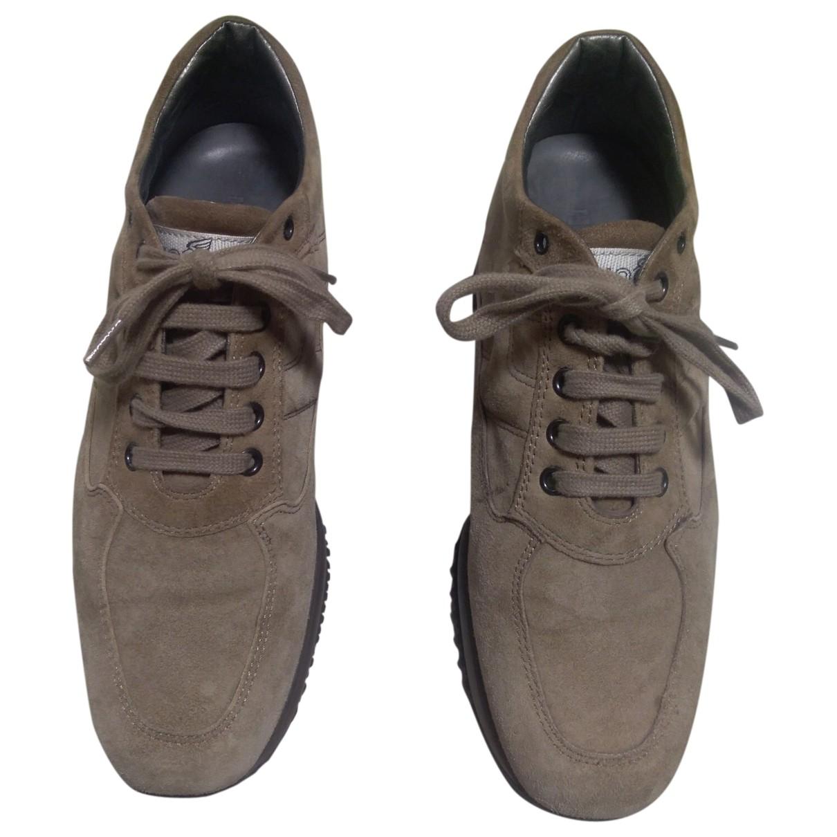 Hogan \N Sneakers in  Beige Veloursleder