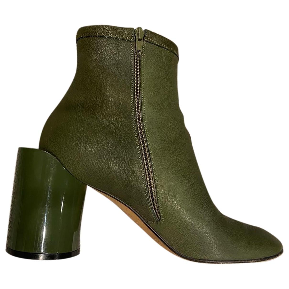 Maison Martin Margiela - Boots   pour femme en cuir - kaki