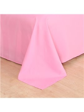 3D Pink Sea and Sunset 4-piece No-fading Soft Bedding Sets Durable Scenery Zipper Duvet Cover with Non-slip Ties