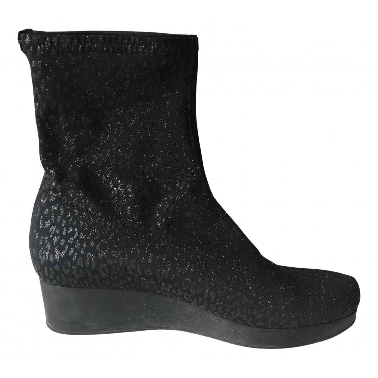 Robert Clergerie - Boots   pour femme en toile - noir