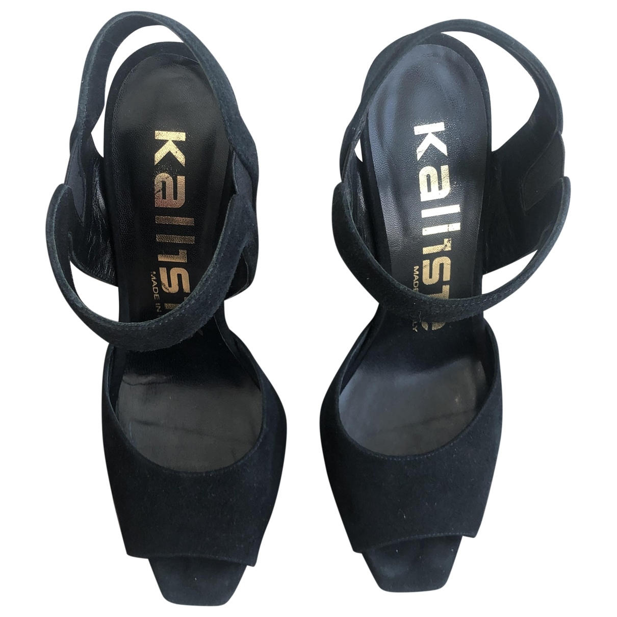 Non Signé / Unsigned \N Black Leather Sandals for Women 40 IT