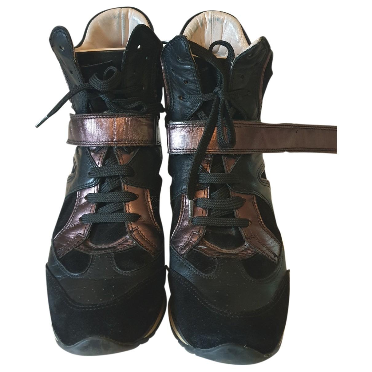 Elena Iachi - Baskets   pour femme en suede - marron