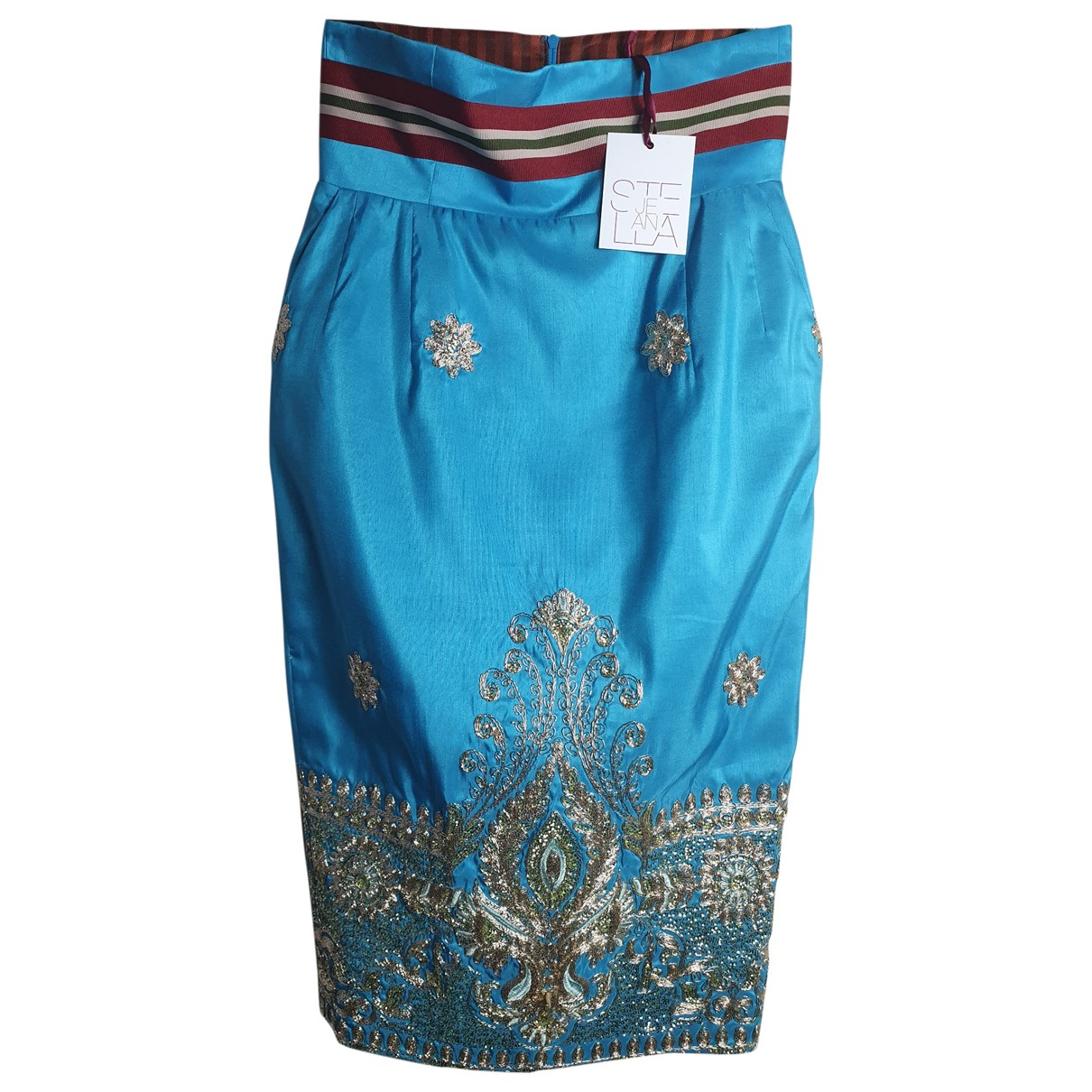 Stella Jean \N Blue skirt for Women 40 IT