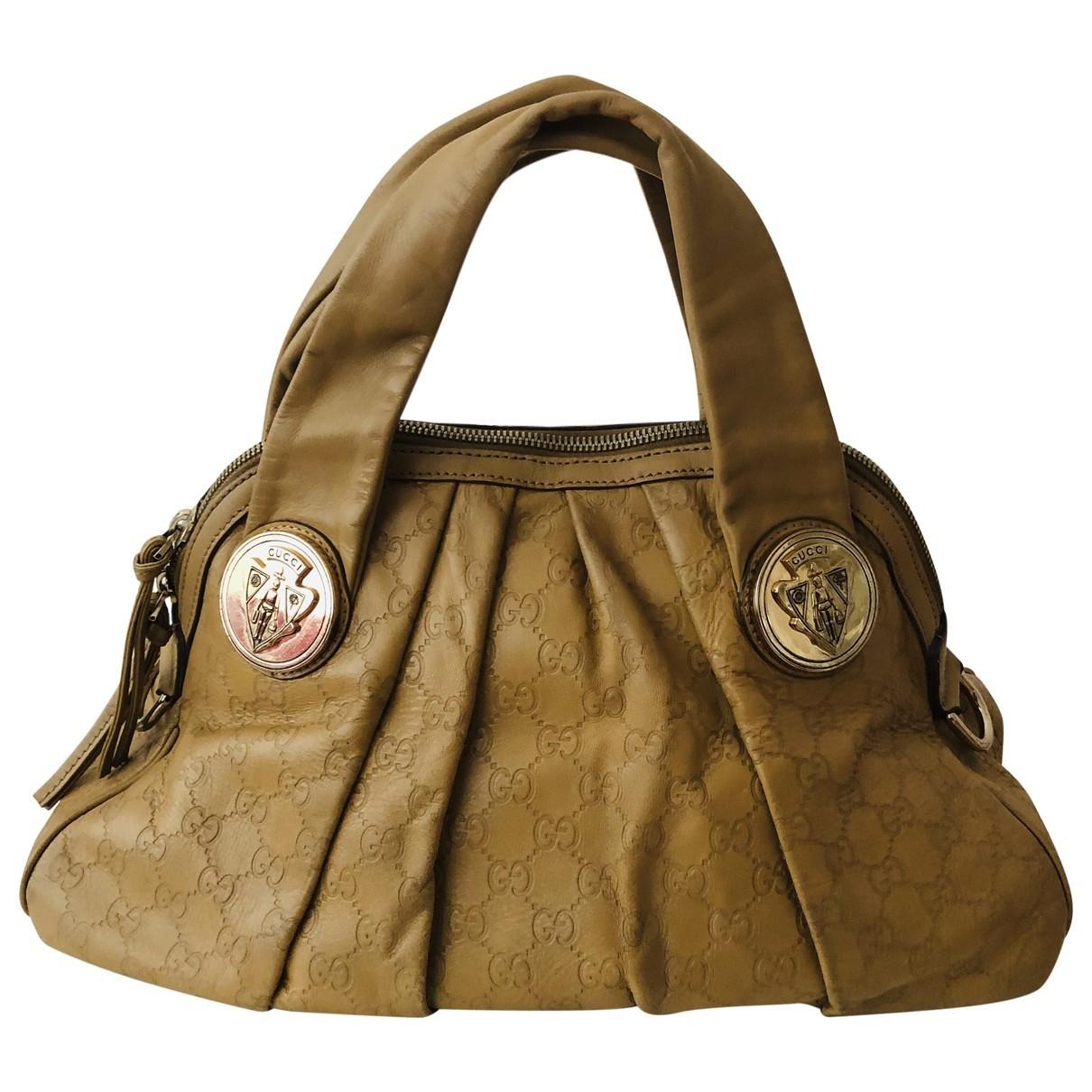 Gucci Hysteria Handtasche in  Beige Leder