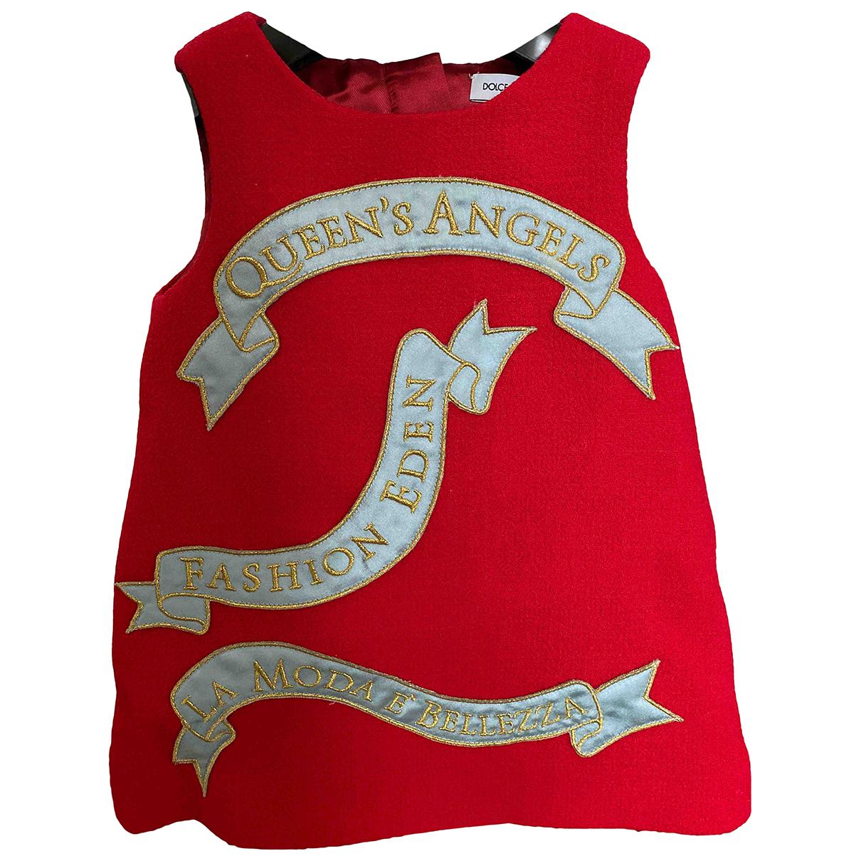 Dolce & Gabbana \N Kleid in  Rot Baumwolle