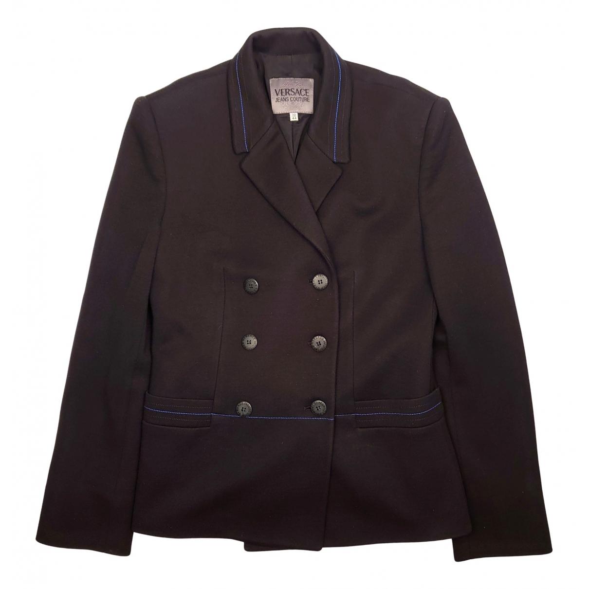 Versace Jeans N Black jacket for Women 44 IT