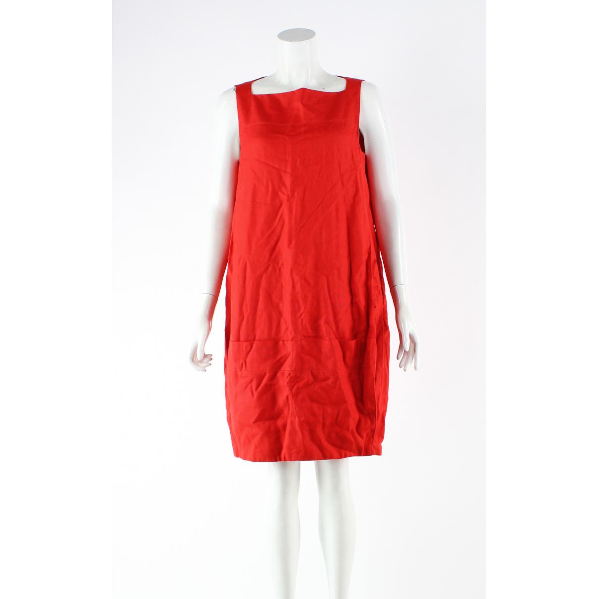 Diane Von Furstenberg \N Kleid in  Rot Viskose