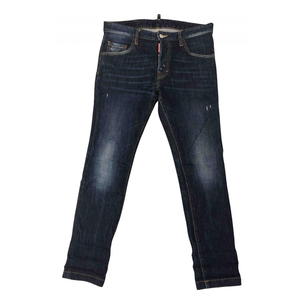 Dsquared2 N Navy Cotton Jeans for Men 38 FR
