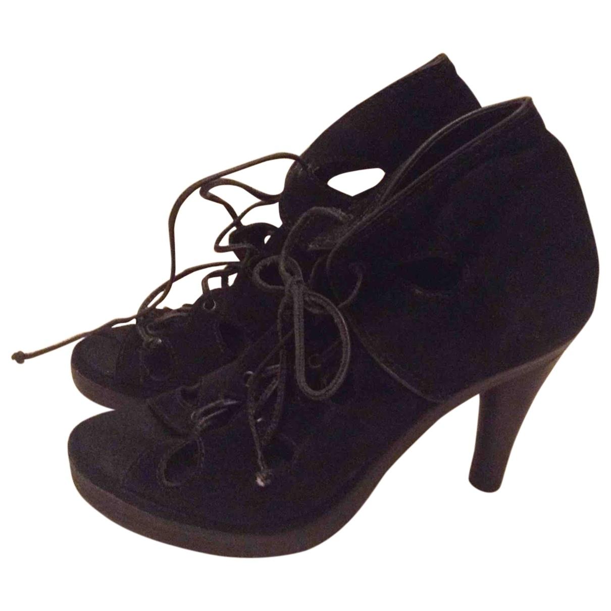 Zimmermann \N Black Suede Sandals for Women 37 EU