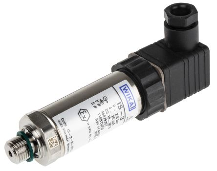 WIKA Pressure Sensor for Gas, Liquid , 2.5bar Max Pressure Reading Analogue