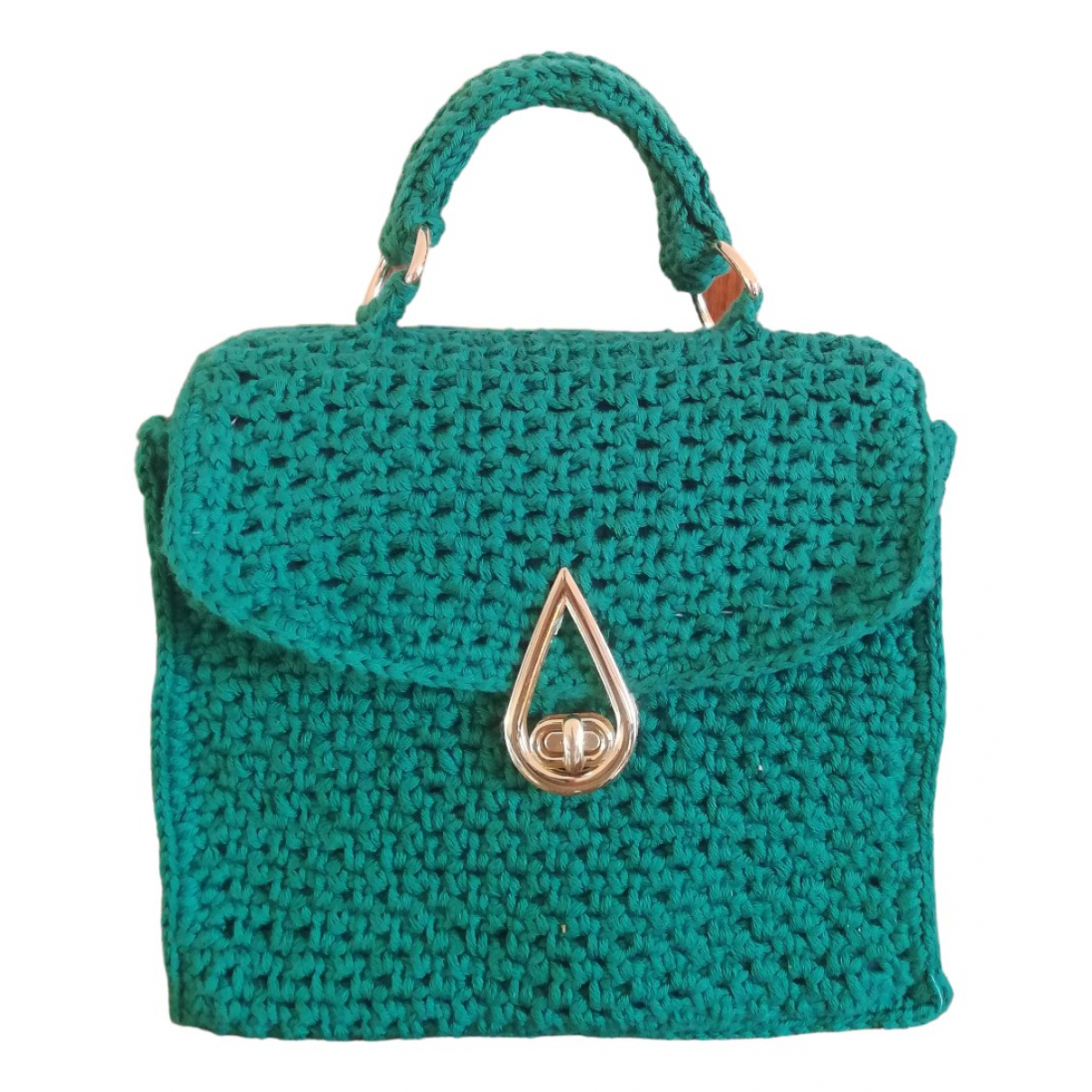 Non Signé / Unsigned \N Turquoise Cotton handbag for Women \N