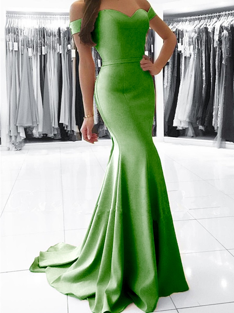 Ericdress Off The Shoulder Mermaid Simple Evening Dress