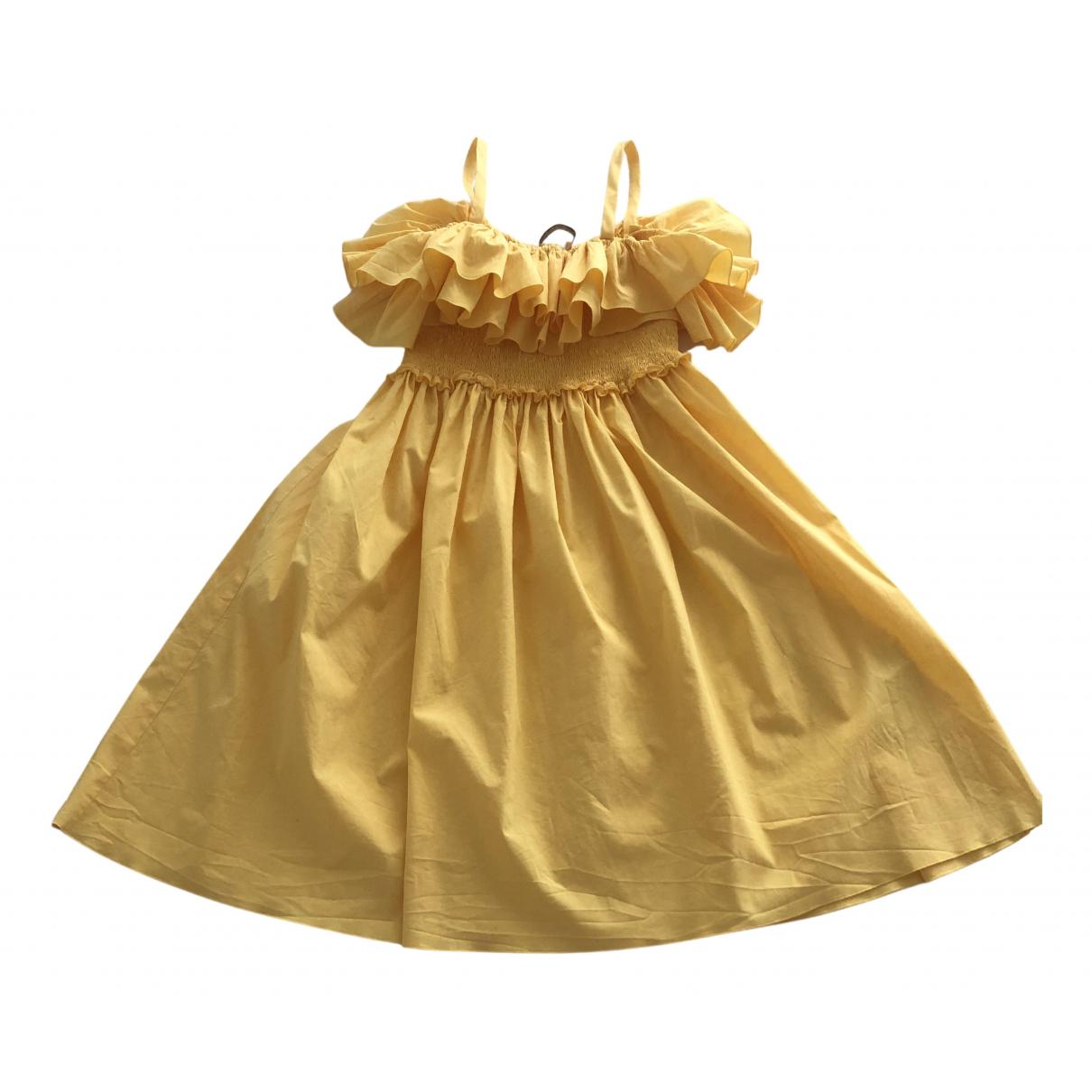 Blumarine \N Kleid in  Gelb Baumwolle