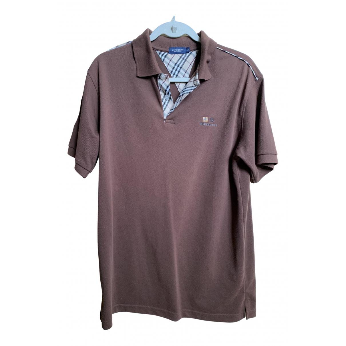 Burberry - Polos   pour homme en coton - marron