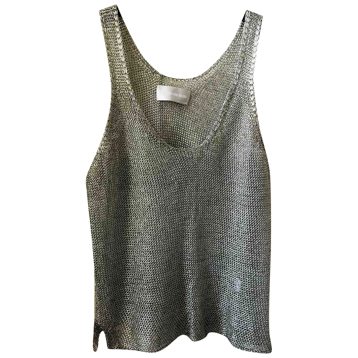 Zadig & Voltaire N Gold Glitter  top for Women 38 FR