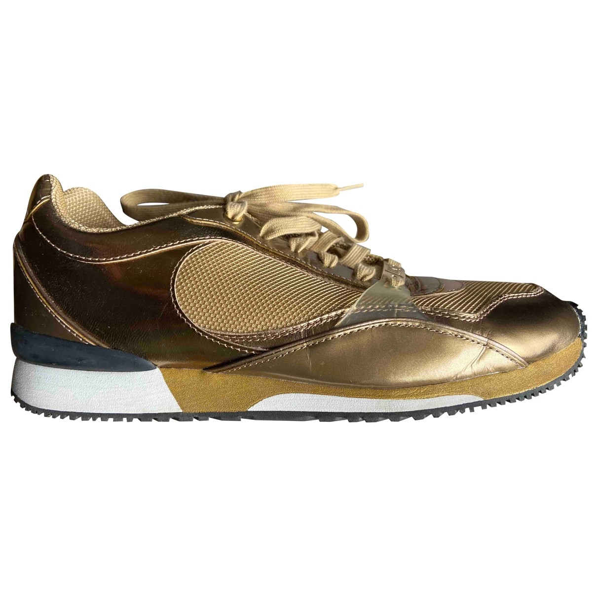 Just Cavalli \N Sneakers in  Gold Leder