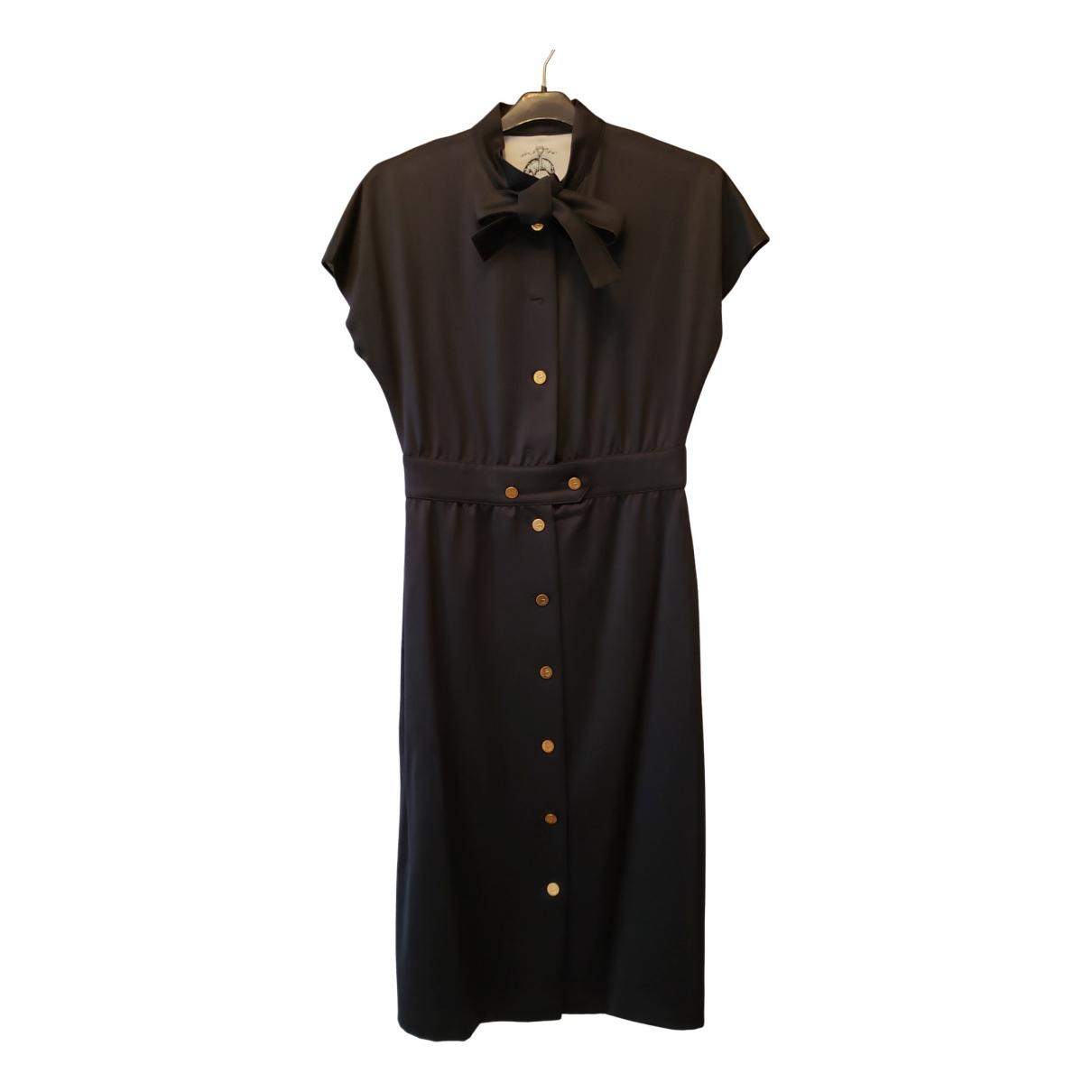 Vestido midi de Lana Black Fleece By Thom Browne
