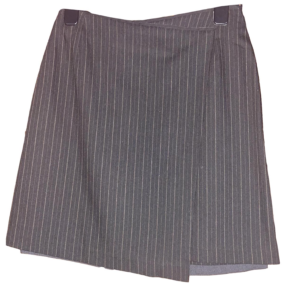 Stefanel - Jupe   pour femme en coton - gris