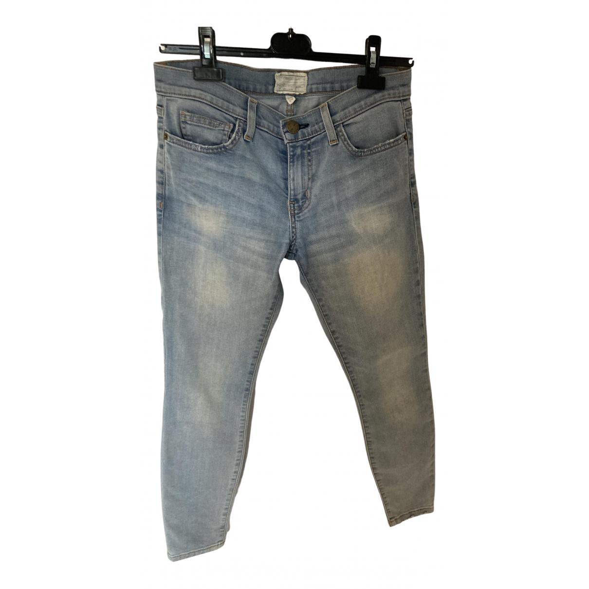 Current Elliott \N Blue Denim - Jeans Jeans for Women 27 US