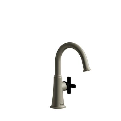 Momenti MMRDS00XBNBK-10 Single Hole Lavatory Faucet with x Cross Handle without Drain 1.0 GPM  in Brushed