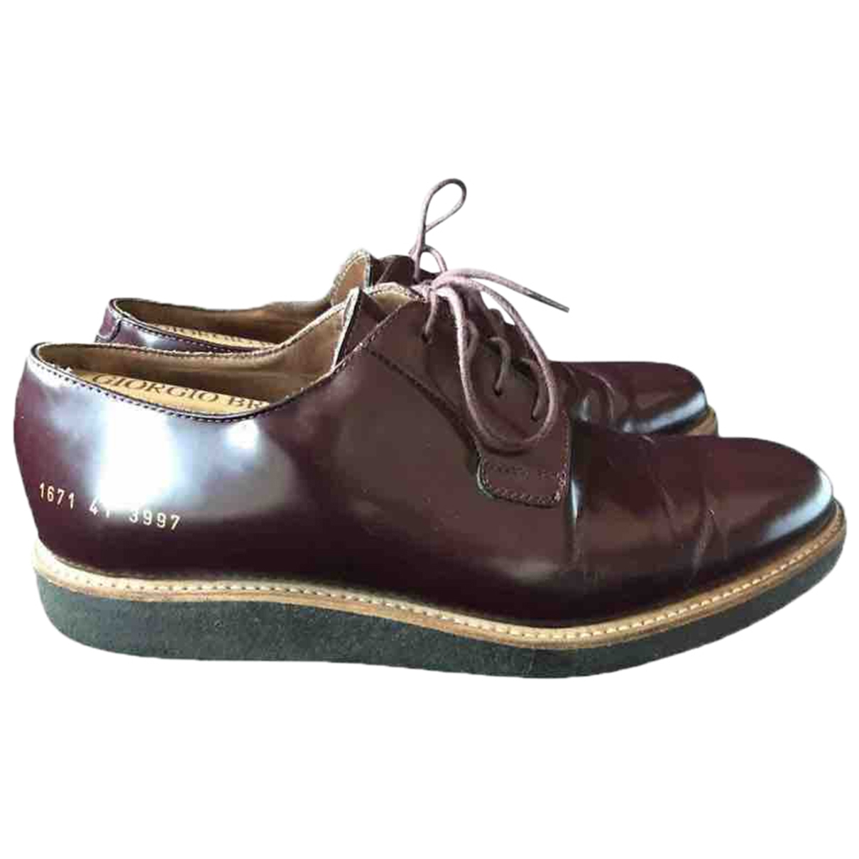 Common Projects - Derbies   pour homme en cuir - bordeaux