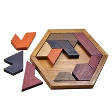12pcs Polygon Assembled Jigsaw Puzzle Blocks