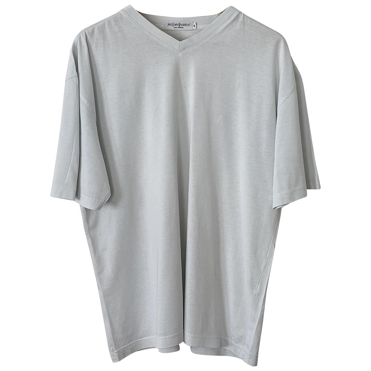 Yves Saint Laurent N White Cotton T-shirts for Men 4 0 - 6