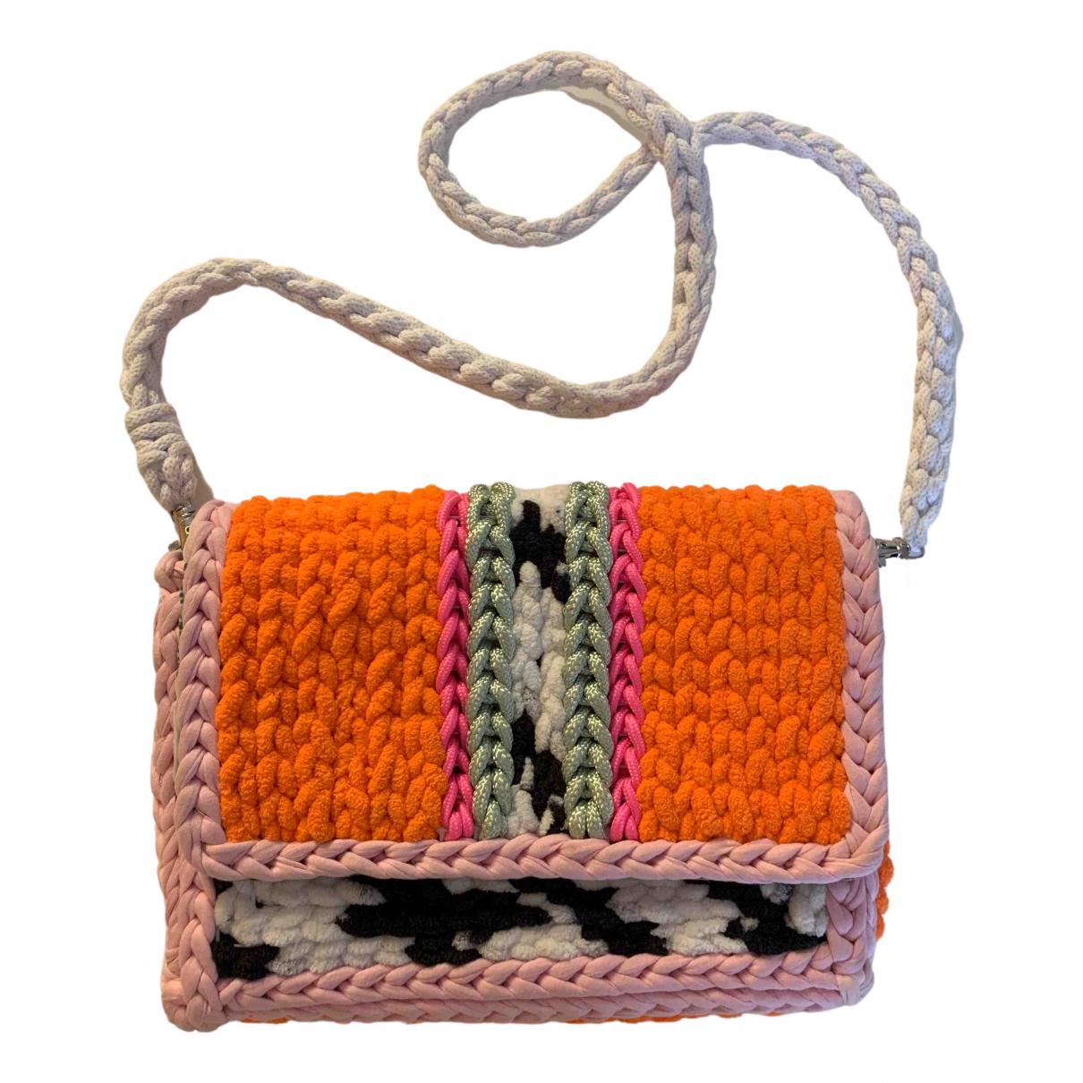 - Sac a main Crochet pour femme en coton - multicolore