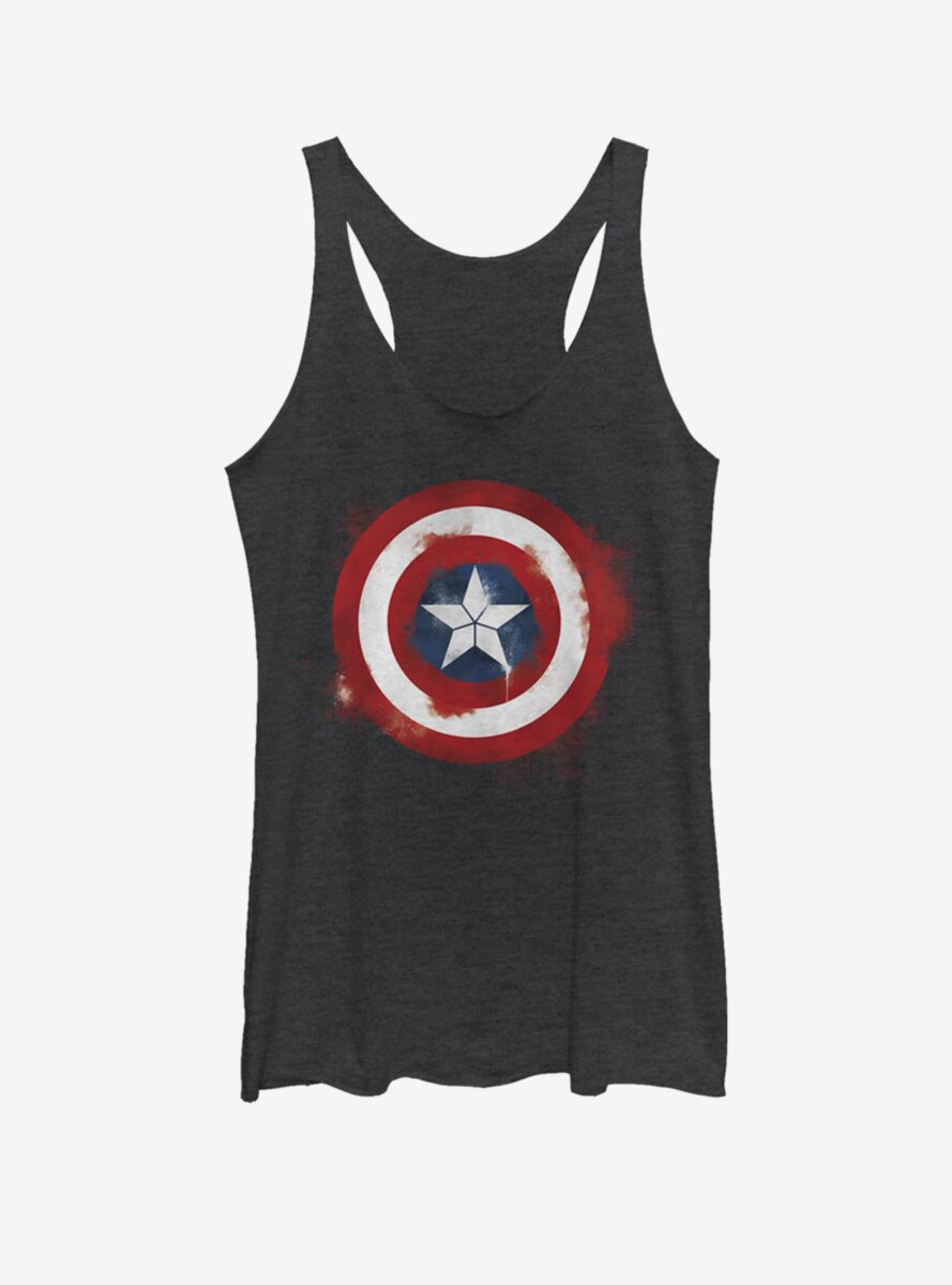 Marvel Captain America Spray Logo Womens Tank Top