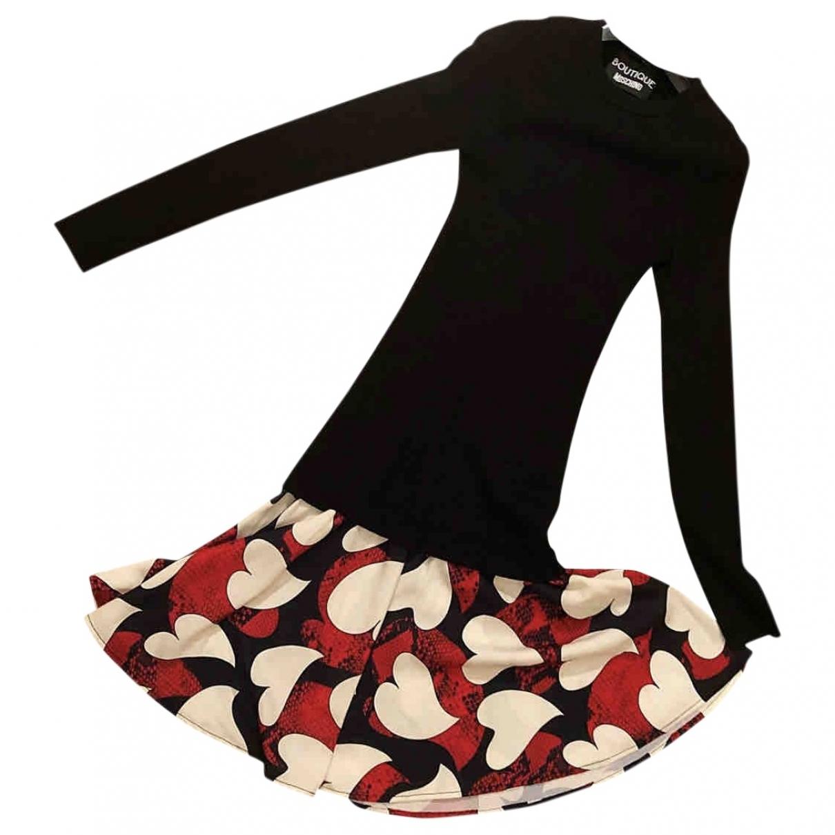 Moschino \N Kleid in  Schwarz Wolle