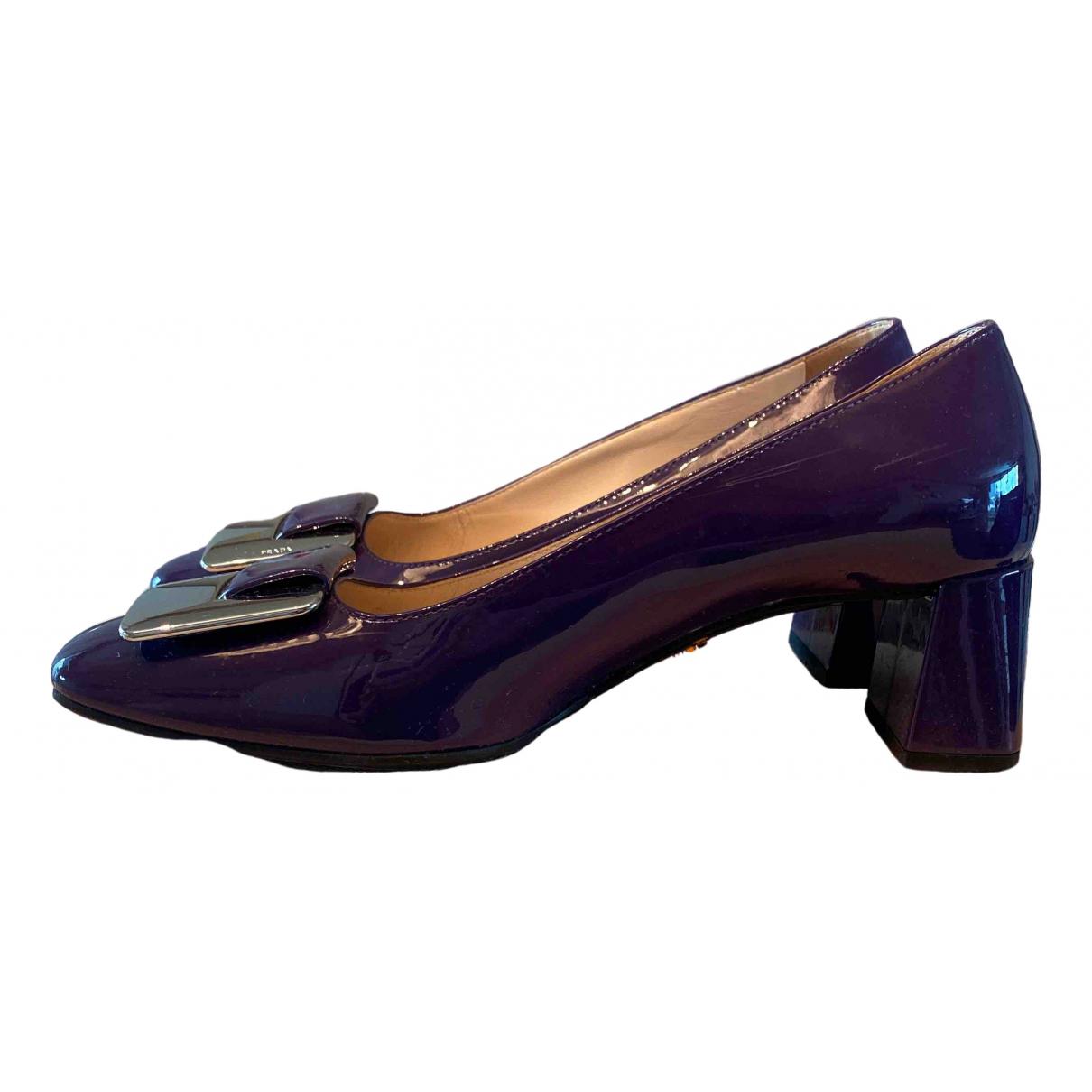 Prada \N Purple Patent leather Heels for Women 35 EU
