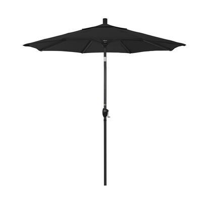 GSPT758302-5408 7.5' Pacific Trail Series Patio Umbrella With Stone Black Aluminum Pole Aluminum Ribs Push Button Tilt Crank Lift With Sunbrella 1A