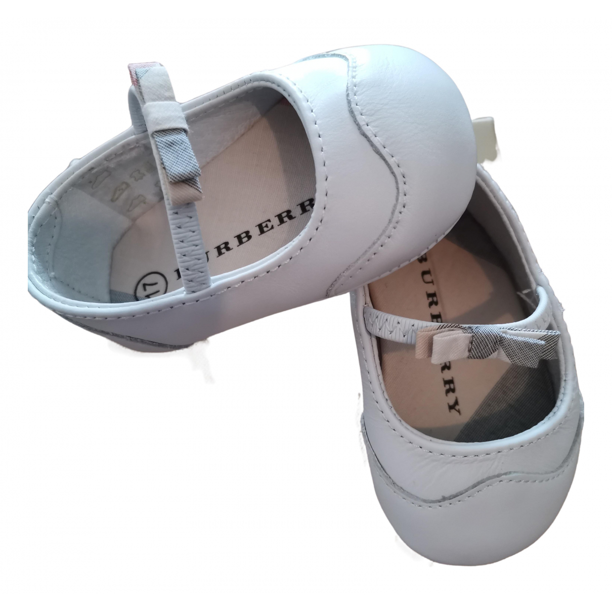 Burberry - Ballerines   pour enfant en cuir - blanc