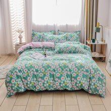 Flower Print Bedding Set Without Filler
