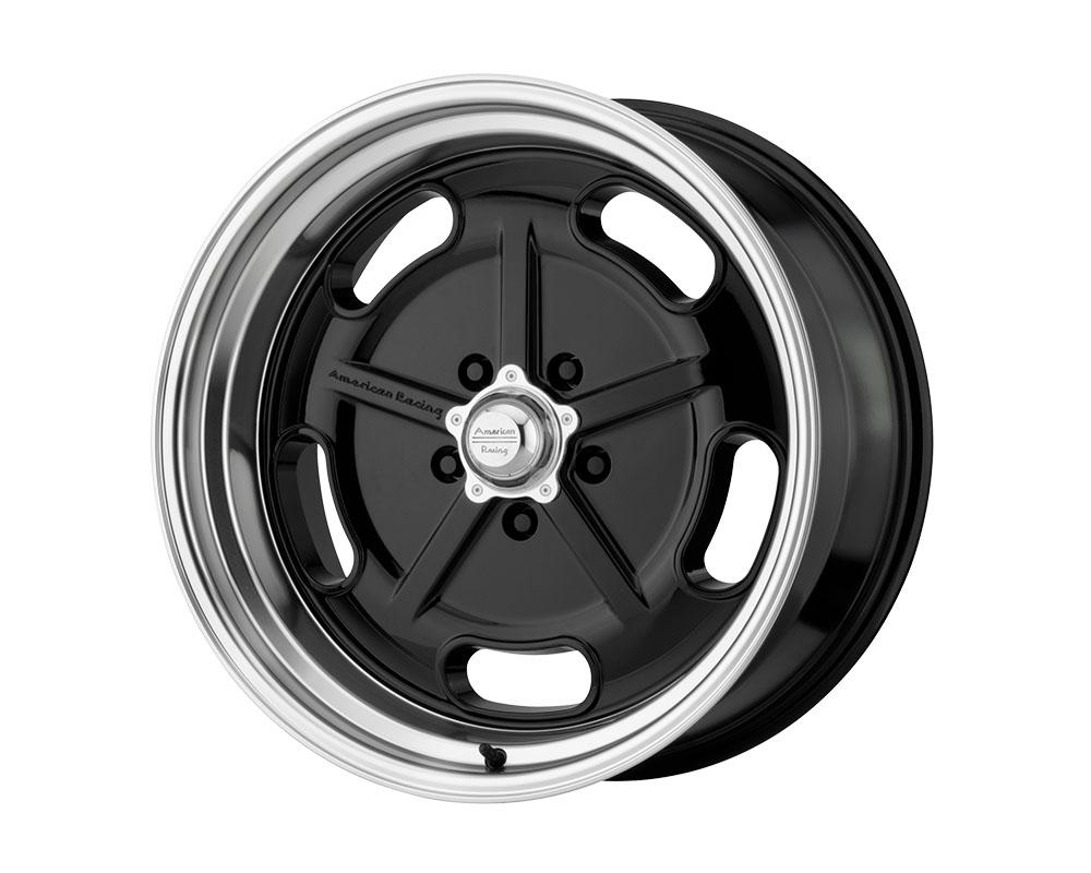 American Racing VN511 Salt Flat Wheel 17x8 5x5x114.3 +0mm Gloss Black Diamond Cut Lip