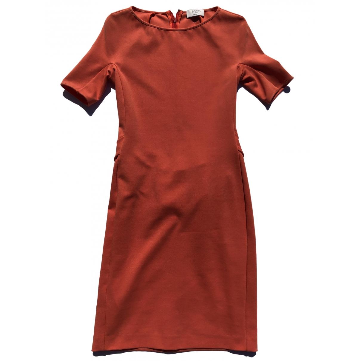 Ports 1961 \N Kleid in  Orange Baumwolle