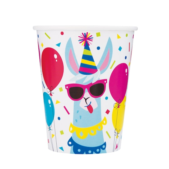 9 Oz Llama Birthday Paper Cups, 8Ct By Unique | Michaels®